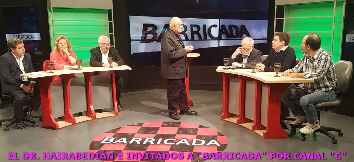 """23 de agosto Gonio Ferrari en """"Barricada"""", programa que conduce el Dr. Hairabedián por el Canal """"C"""""""