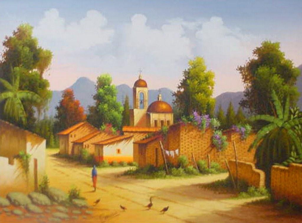 Im genes arte pinturas cuadros de paisajes mexicanos for Cuadros mexicanos rusticos