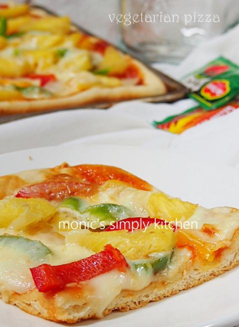 resep pizza vegetarian praktis