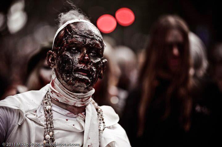 Egyptian zombie: Gabriel Rautiainen. Makeup FX / tehostemaskeeraus: Ari Savonen