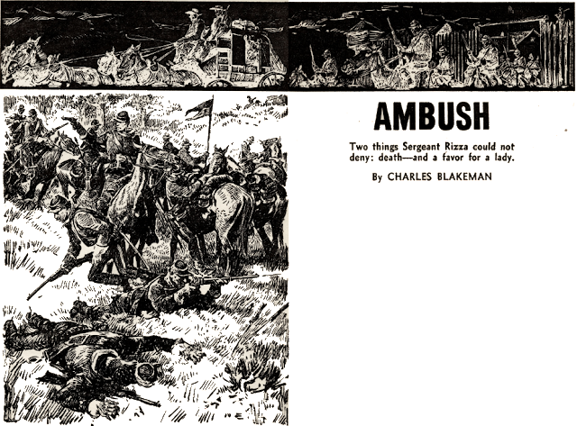 Illustration for Ambush by Charles Blakeman (pseudonym of George C. Appell)