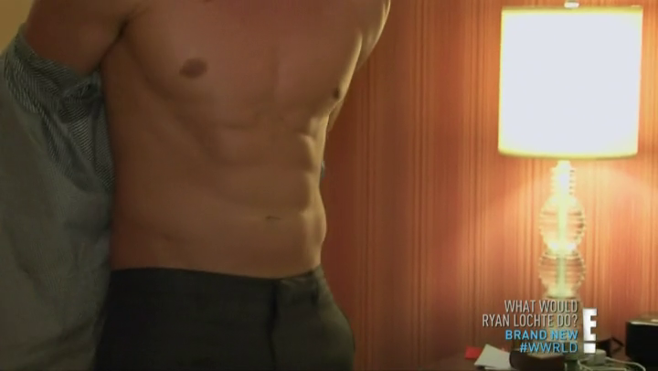 male celeb screencaps ryan lochte shirtless screencaps in