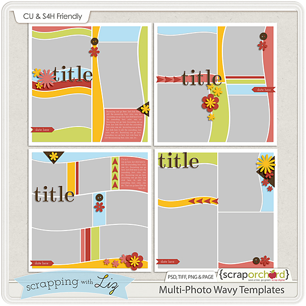 http://scraporchard.com/market/Multi-Photo-Wavy-Digital-Scrapbook-Templates.html