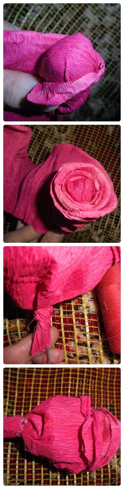 мастер-класс бумажной розы