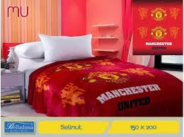 Jual Selimut belladona sutra panel Manchester United