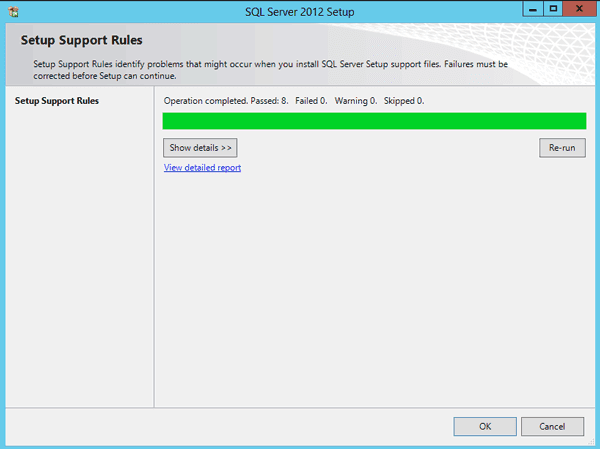 SQL Server 2012 setup support files