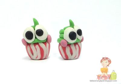 clay cupcake food sweet desert keropee cute handcrafts arts creative DIY