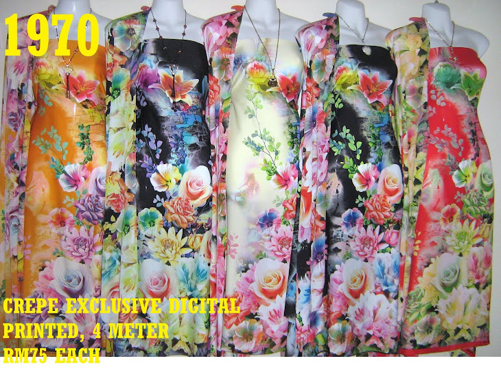 CDP 1970: CREPE EXCLUSIVE DIGITAL PRINTED, 4 METER, 5 COLORS