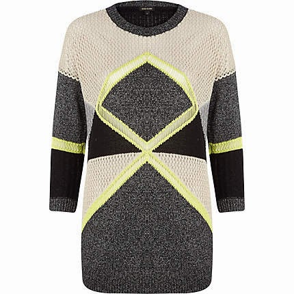 grey and fluro jumper