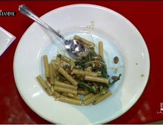 ricetta ziti cicoria, pinoli e uvetta
