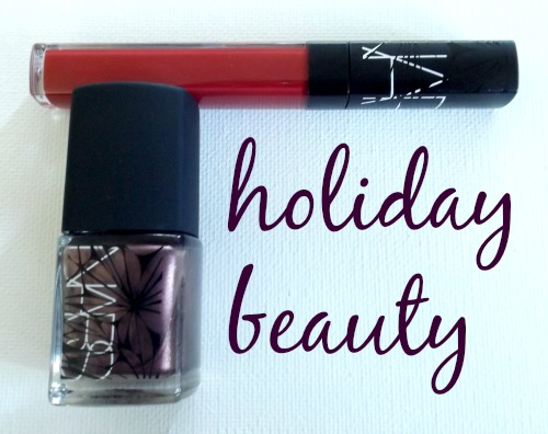 NARS holiday nail polish and lip gloss