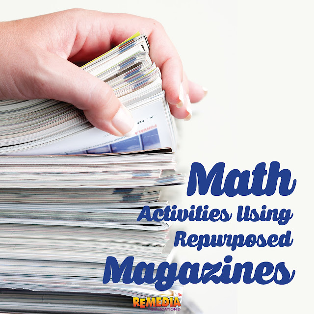 5 Math Activities Using Repurposed Magazines | Remedia Publications