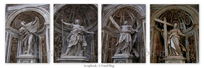 Crossing sculptures St Peter's Basilica Vatican City