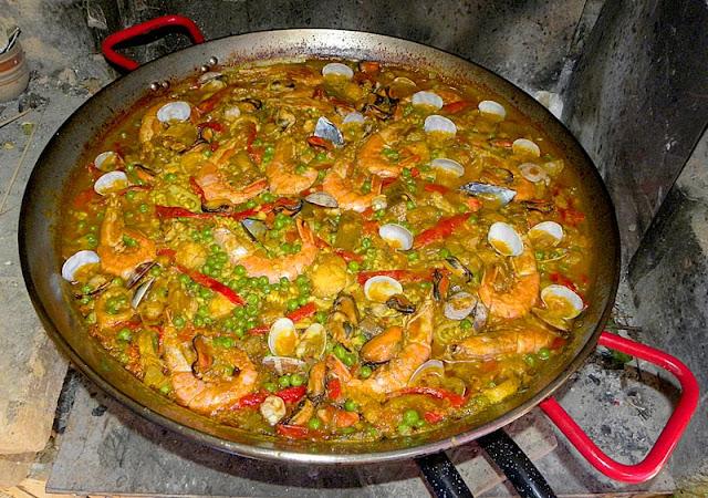 Foto natura huesca paella c mo hacer una paella how to make paella - Como cocinar paella ...