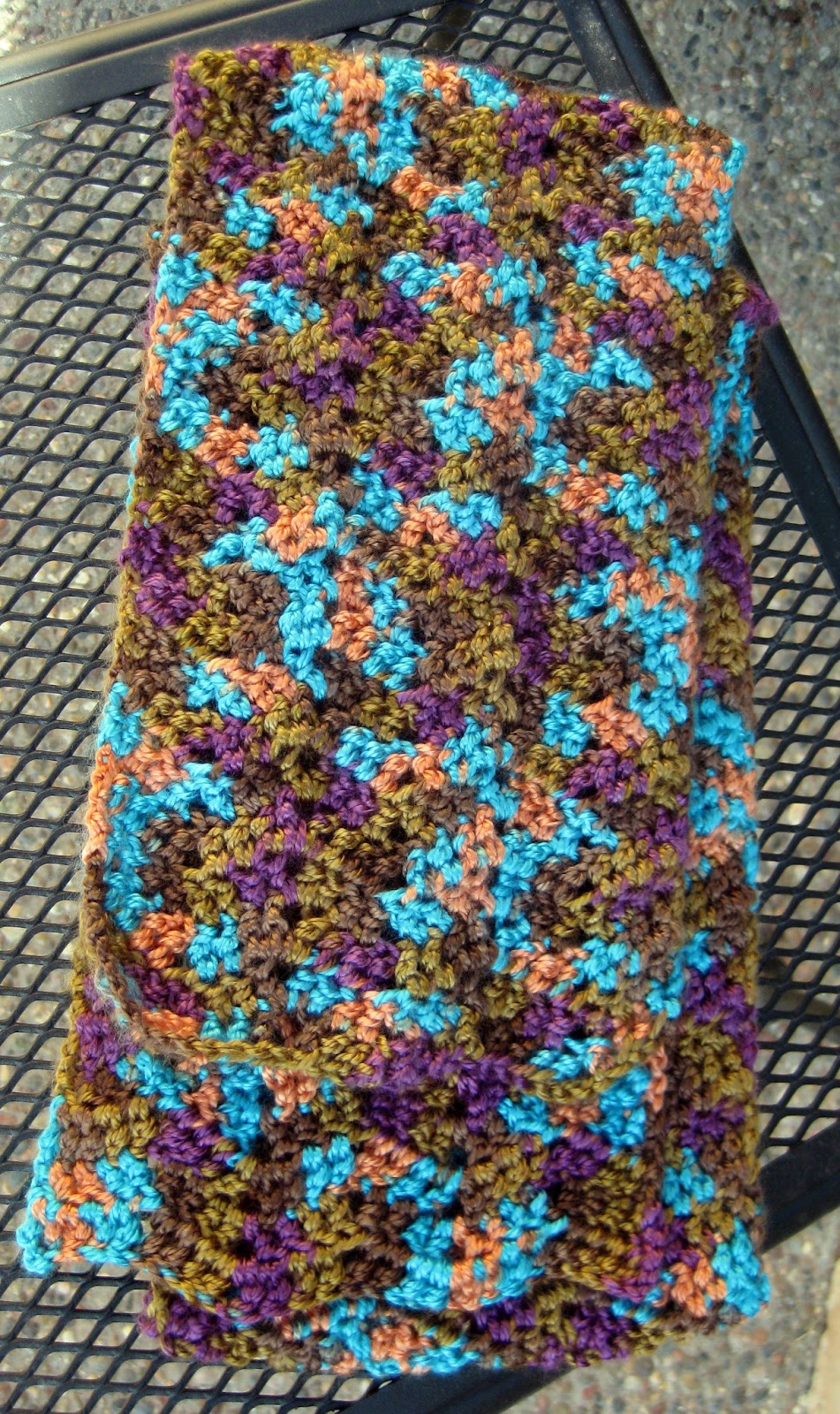 Crochet Scarf Pattern Variegated Yarn : thistlebear: Another chevron scarf...and a surprise