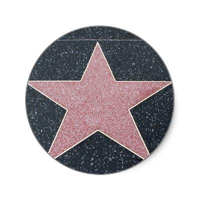 hollywood star template printable say thank you to all thehollywood star template printable