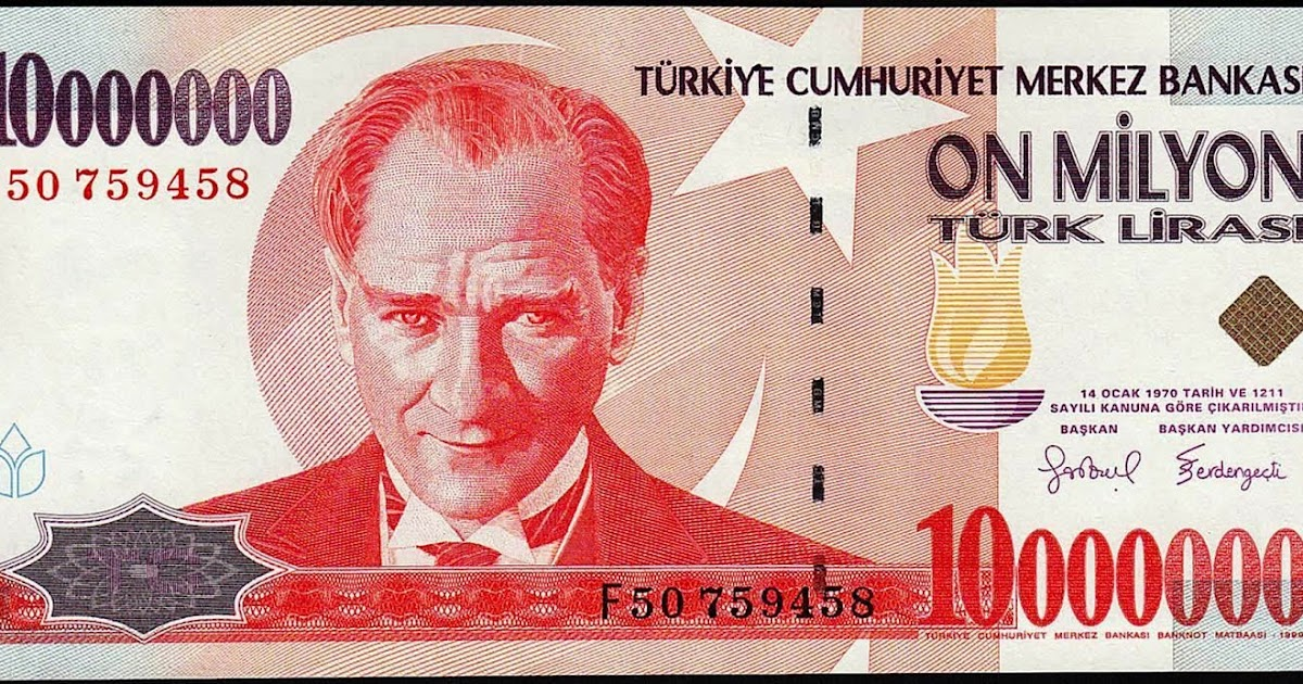 10 Million Turkish Lira Note|World Banknotes & Coins Pictures | Old Money, Foreign Currency ...