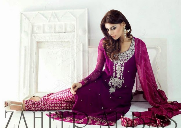 Zaheer Abbas Eid Collection 2014 wwwfashionhuntworldblogspot 4  - Zaheer Abbas Eid Collection 2014 For Women