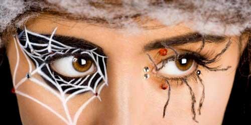 maquillaje ojos halloween telaraña