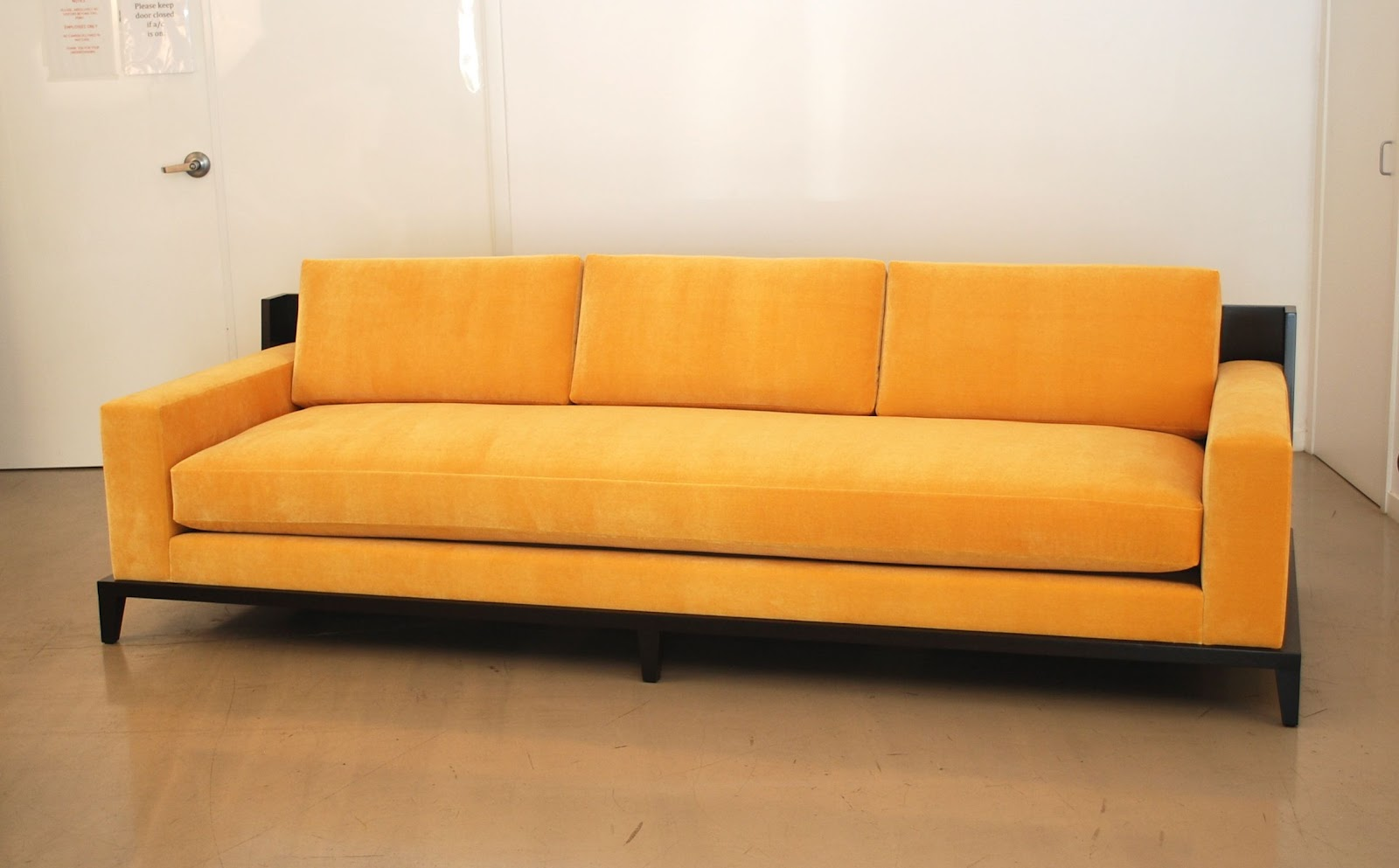 classic design: Custom Sofa with Wood Framed Back