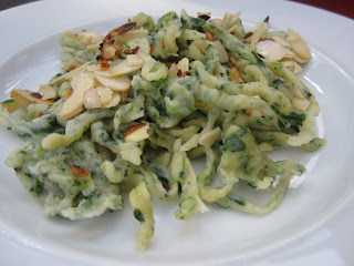 spinach spaetzle dairyfree