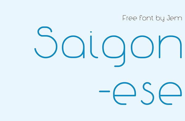 Font Terbaru Untuk Desain Grafis - Saigonese Free Font
