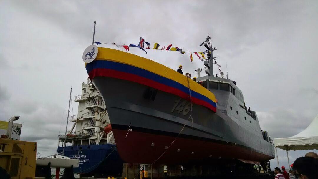 ARC Punta Espada (PC-146), el nuevo patrullero de costa de la Armada de Colombia, protegerá los mares soberanos colombianos.