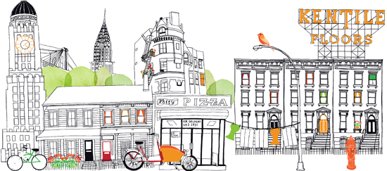 Claudia Pearson ilustraciones, ciudades, dibujos, illustration, city, town