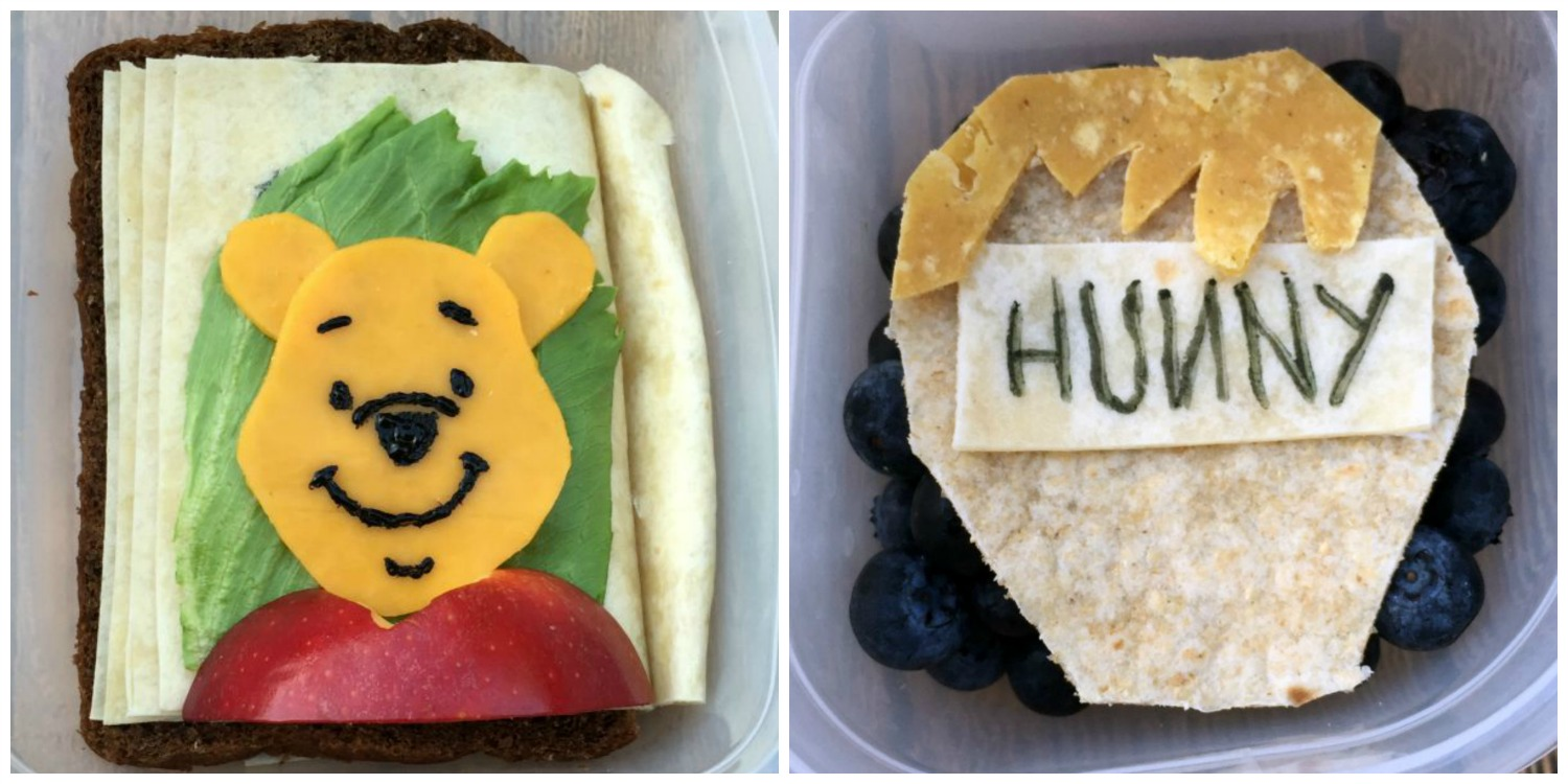 ... cheddar cheese sliced meat apple and a little black food coloring. The side dishes are Chobani Greek Yogurt Tots pouch featuring Winnie the Pooh ... & Lunchbox Dad: How to Make a Fantastic Winnie The Pooh Storybook Lunch Aboutintivar.Com