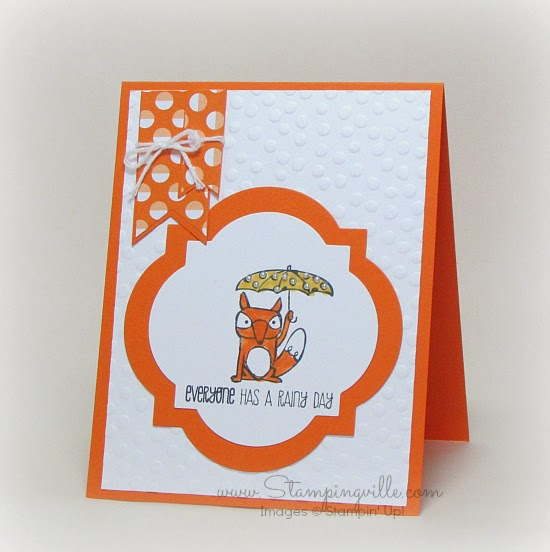 Everyone has a rainy day - Stampin' Up! Life's Adventure hostess stamp set