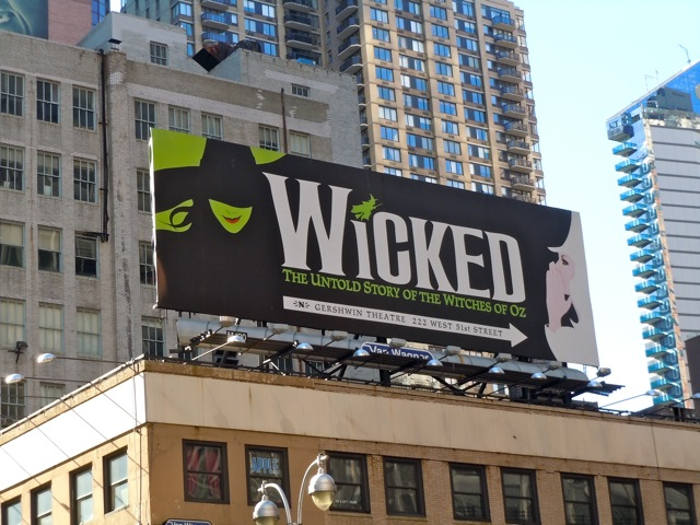 Wicked musical billboard
