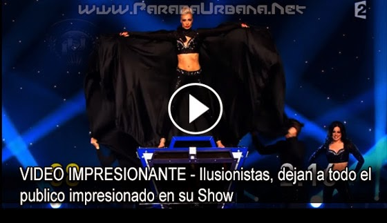 VIDEO IMPRESIONANTE - Ilusionistas, dejan a todo el publico impresionado en su Show