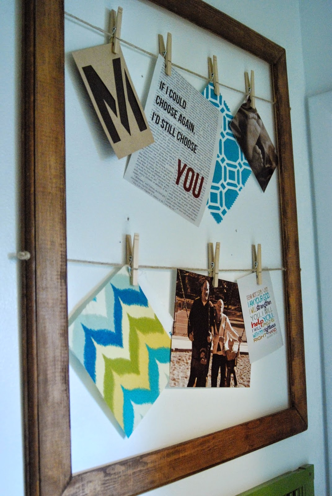 Frame with Hanging Clothespins