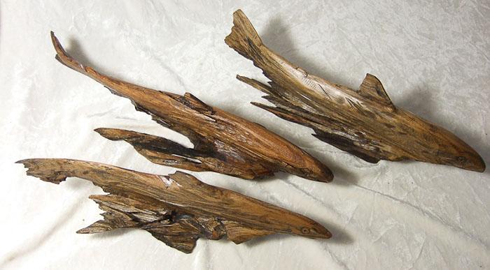 eucalyptus trout carving
