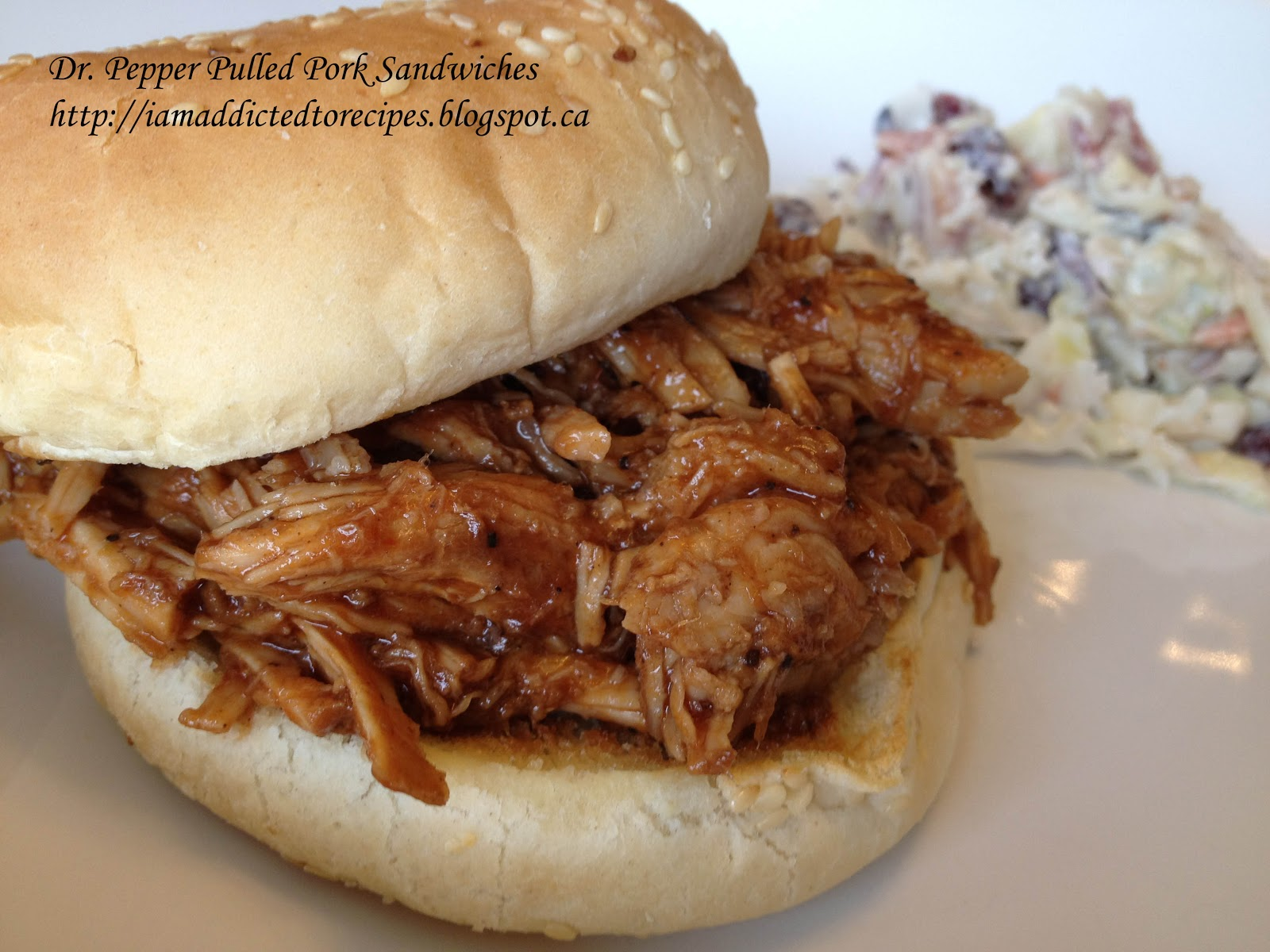 Dr. Pepper Pulled Pork Sandwiches |Slow Cooker | Addicted to Recipes