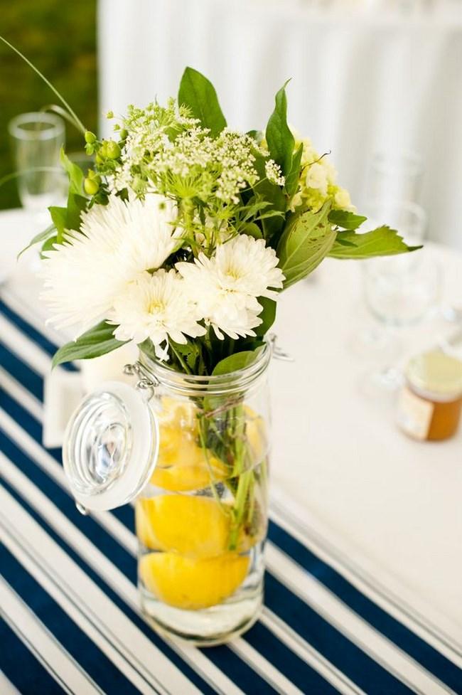 centros de mesa con limones para boda centros de mesa