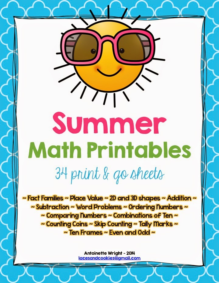 http://www.teacherspayteachers.com/Product/Summer-Math-Printables-34-Print-Go-Sheets-1234061