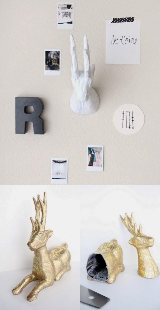 Diy paper mache animal heads diy crafts tutorials for Diy paper crafts tutorials