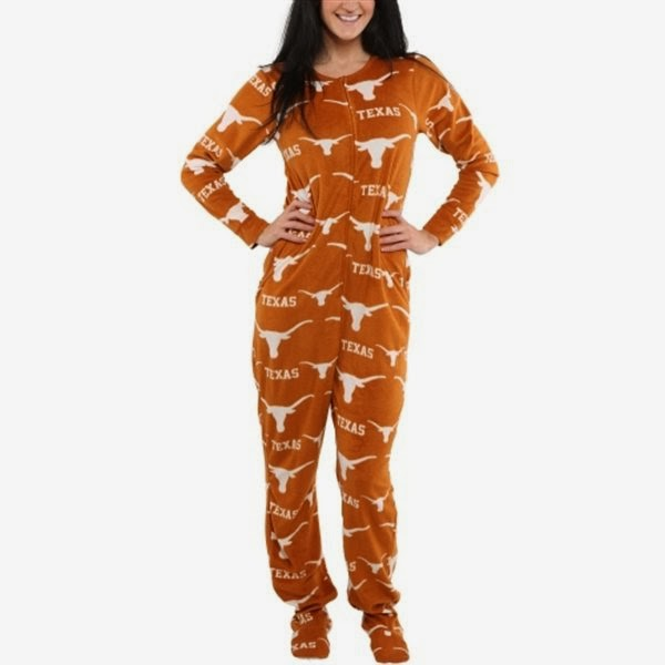 Texas Longhorns NCAA Footie Pajamas
