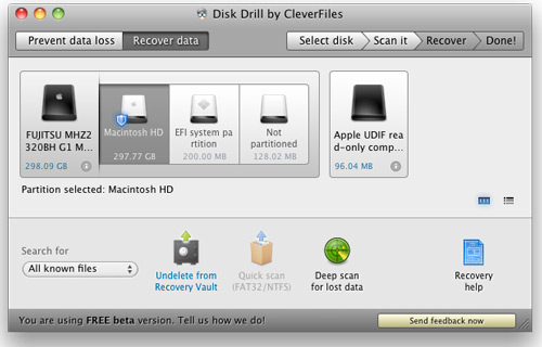 Recover deleted files on your mac with Disk Drill