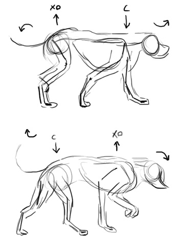 The Line Test Journals: How to Key a Dog\'s Walk - Animation Notes ...