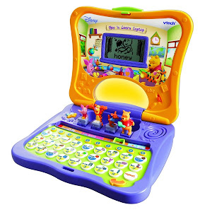 VTECH Computer - Winnie The Pooh Play and Learn Laptop: Discovery School RM150 (5%disc)