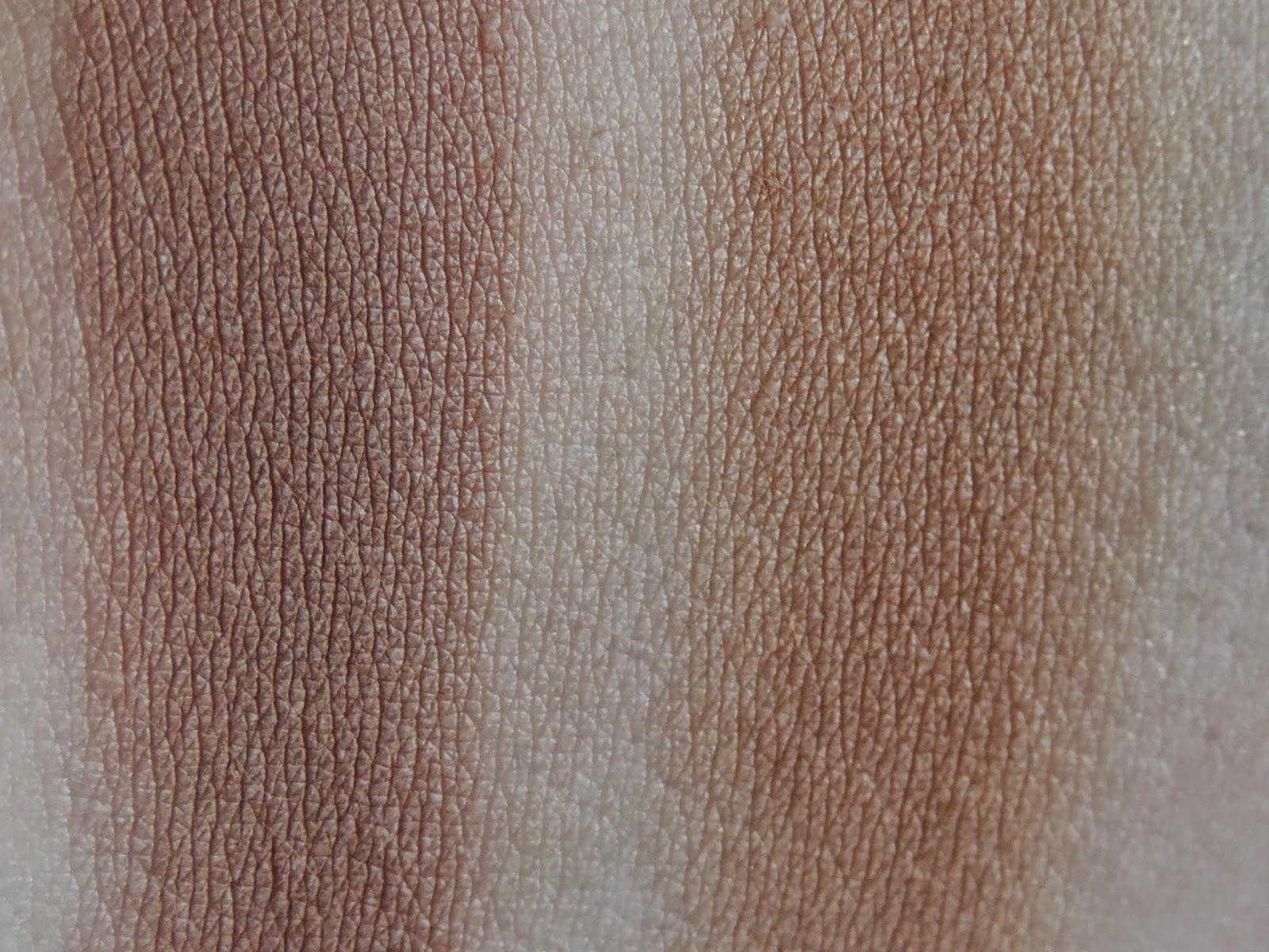 Swatches: Bobbi Brown Bronzing Powder in Natural, Dior Skin Nude Bronzer in Amber