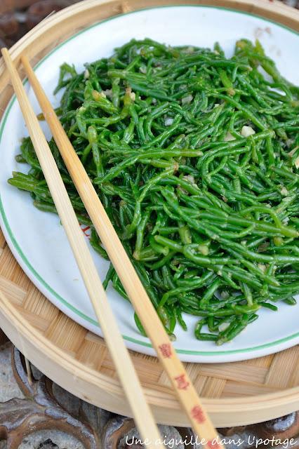 wok de salicornes à l'asiatique
