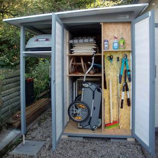 Viel Stauraum auf wenig Platz: Der Garten[Q] ist das moderne Gerätehaus
