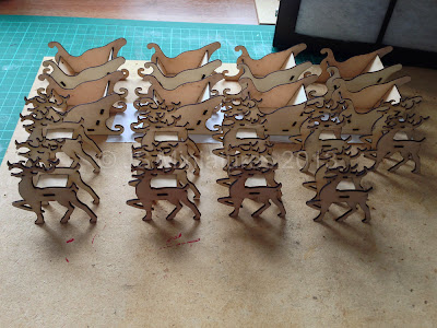 Reindeer & Sleighs for Quernus Crafts
