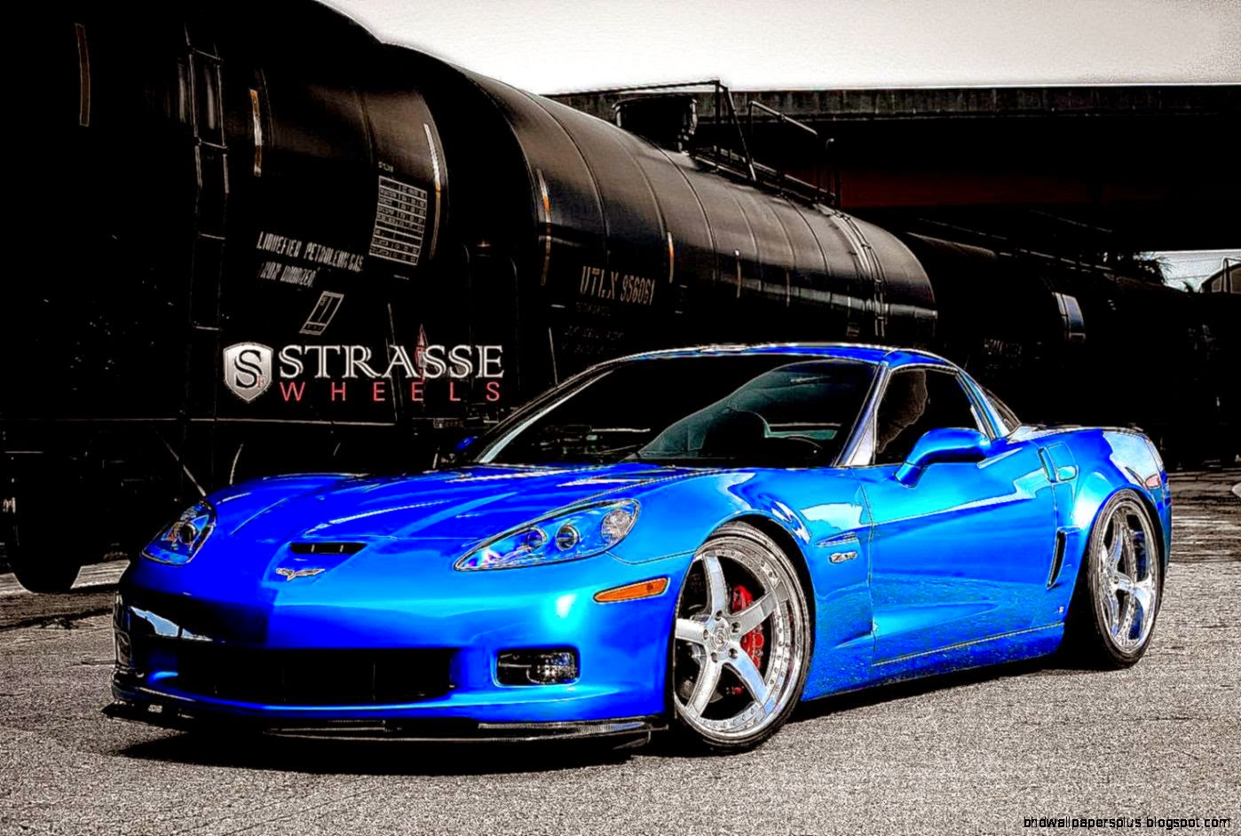 Blue Chevrolet Corvette Znexus 5 Wallpapers  Free Nexus Wallpapers