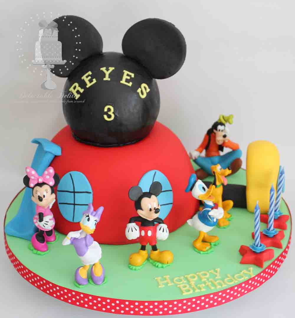 Delectable Delites: Mickey mouse clubhouse cake for Reyes ...