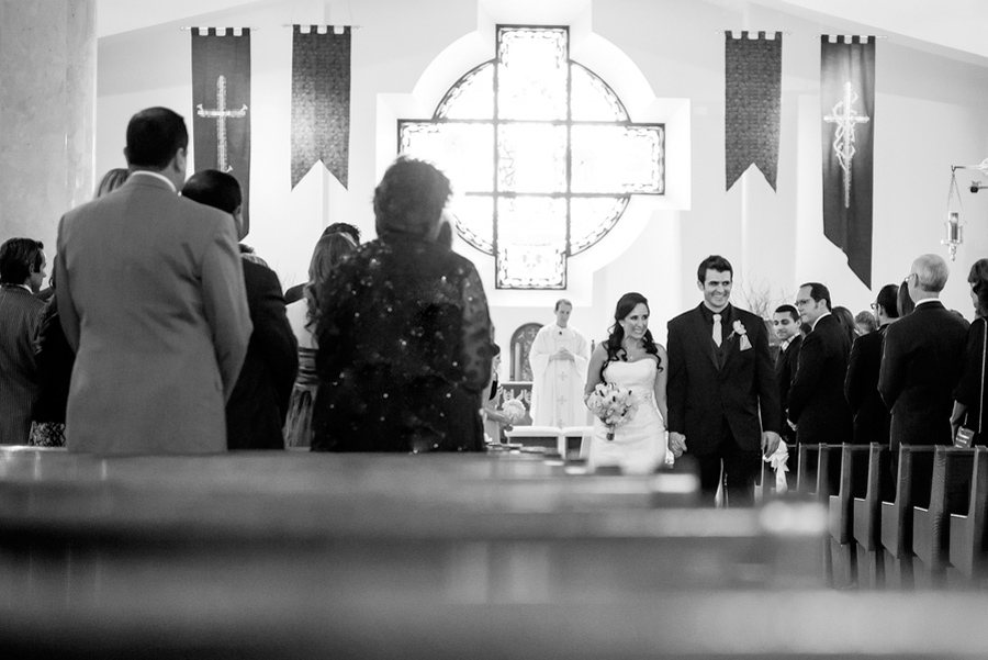 Catholic wedding ceremony Christ the King Catholic Church Tampa florida