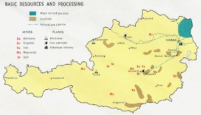 Mapa da Áustria Política Regional
